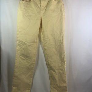 Gloria Vanderbilt Yellow Jeans